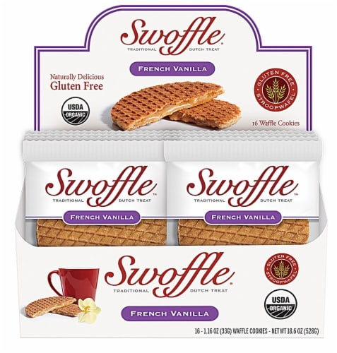 Swoffle  Organic Waffle Cookie Stroopwafel Gluten Free   French Vanilla Perspective: front
