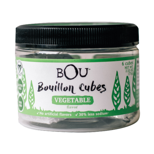 Bou Vegetable Flavored Bouillon Cubes Perspective: front
