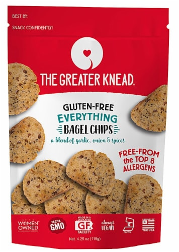 The Greater Knead Gluten Free Everything Bagel Chips Perspective: front