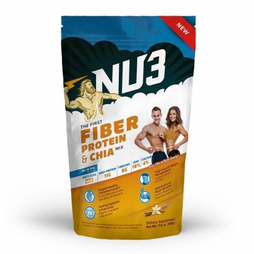 Nu3 Fiber Protein Chia Mix Vanilla Perspective: front