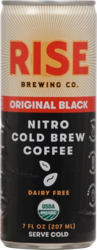Rise Brewing Co Original Black Nitro Cold Brew Coffee Perspective: front