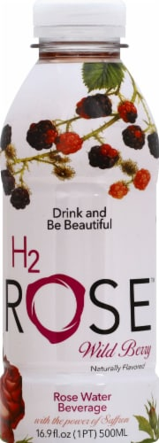 H2rOse Wild Berry Rose Water Beverage Perspective: front
