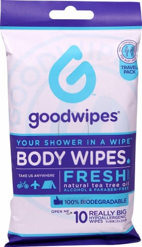 Goodwipes Fresh Body Wipes Travel Pack Perspective: front