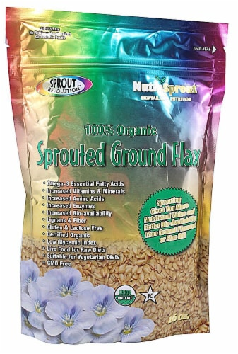 Sprout Revolution Organic Sprouted Ground Flax Perspective: front