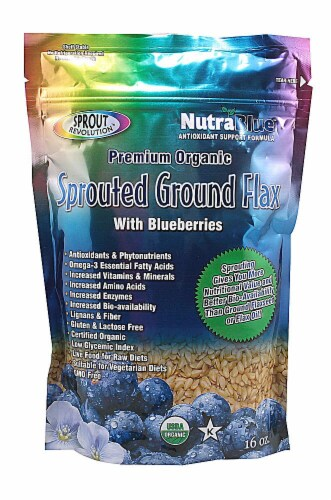 Sprout Revolution Organic Sprouted Ground Flax - Blueberry Perspective: front