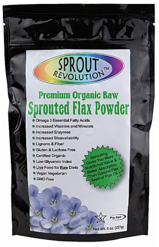 Sprout Revolution  Premium Organic Sprouted Ground Flax Perspective: front