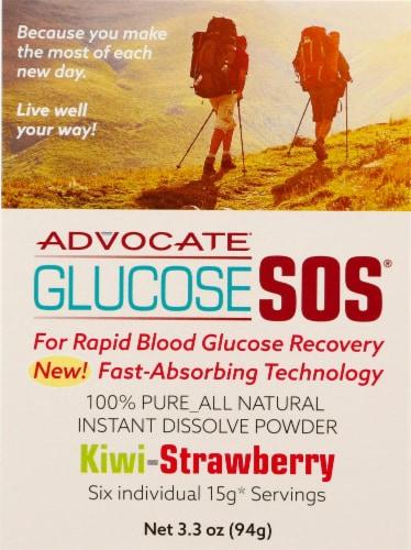 Advocate Glucose SOS Kiwi-Strawberry Instant Dissolve Glucose Powder Perspective: front