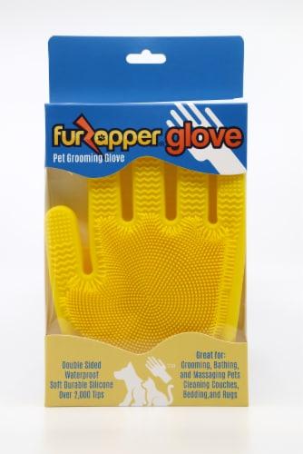 FurZapper Pet Grooming Glove Perspective: front