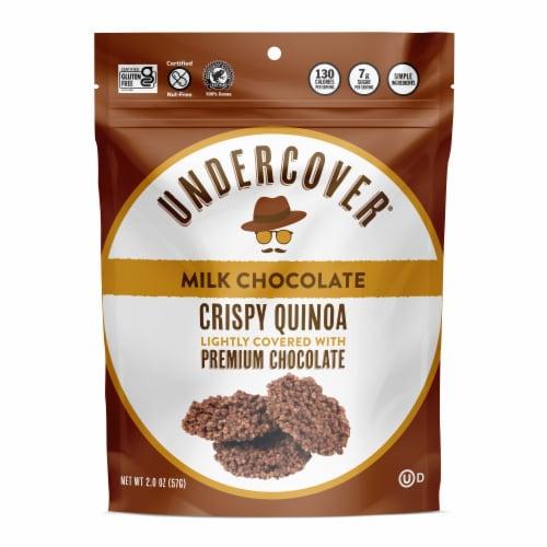 Undercover® Crispy Quinoa Milk Chocolate Covered Snacks Perspective: front