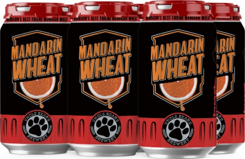 Uncle Bear's Mandarin Wheat Craft Beer Perspective: front