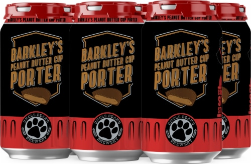 Uncle Bear's Brewery Peanut Butter Cup Porter Beer 6 Cans Perspective: front