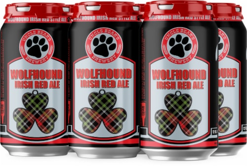 Uncle Bear's Brewery Wolfhound Irish Red Ale Perspective: front