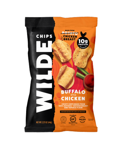 Wilde Gluten Free Buffalo Style Chicken Chips Perspective: front