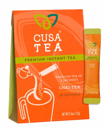 Cusa Tea Chai Tea Premium Instant Tea Perspective: front