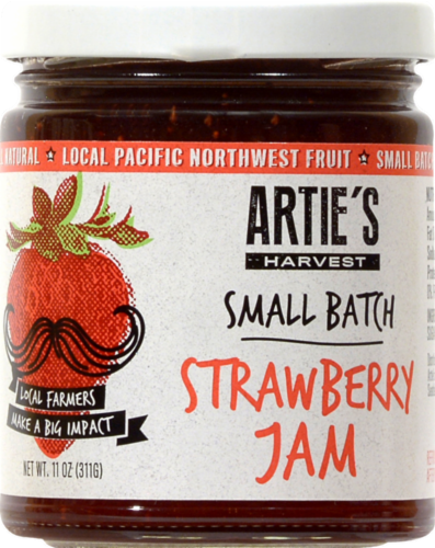 Artie's Harvest Small Batch Strawberry Jam Perspective: front