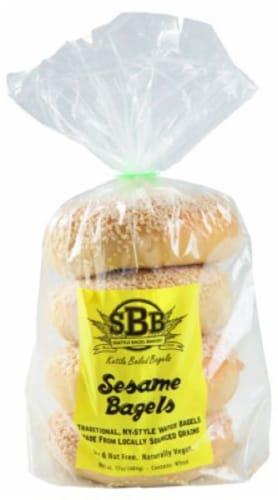 Seattle Bagel Bakery Sesame Bagels Perspective: front