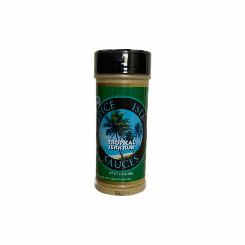 Spice Isle Sauces Tropical Jerk Rub Perspective: front