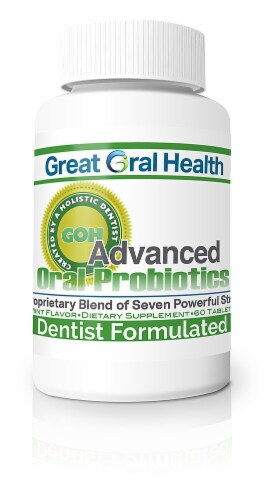 Great Oral Health  Great Oral Health Probiotics 1 bottle Perspective: front