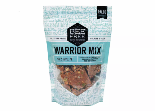 BeeFree Warrior Mix Mae's Apple Pie granola snack Perspective: front