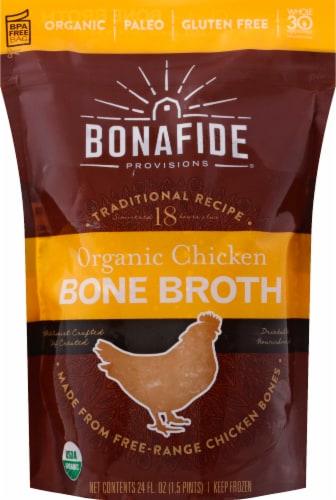 Bonafide Provisions Organic Chicken Bone Broth Perspective: front