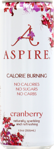 Aspire Cranberry Calorie Burning Energy Drink Perspective: front