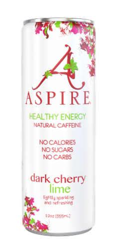 Aspire Healthy Energy Calorie Burning - Dark Cherry Lime Perspective: front