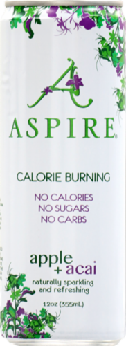 Aspire Apple & Acai Calorie Burning Energy Drink Perspective: front