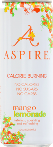 Aspire Mango Lemonade Calorie Burning Energy Drink Perspective: front