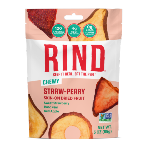 Rind Snacks - Drd Fruit Blend Straw-peary - Case of 12 - 3 OZ Perspective: front