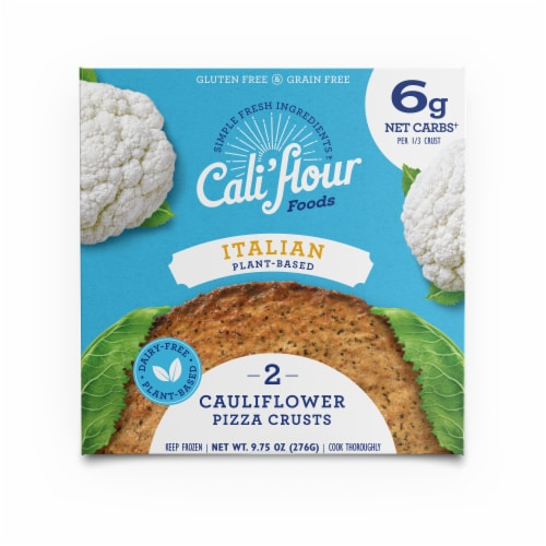 Cali'flour Foods Plant Based Italian Cauliflower Pizza Crusts Perspective: front
