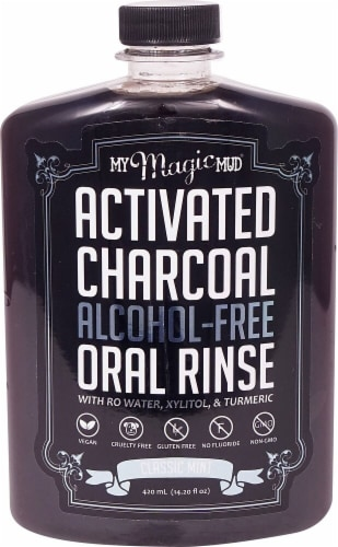 My Magic Mud  Activated Charcoal Oral Rinse   Classic Mint Perspective: front