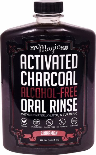My Magic Mud  Activated Charcoal Oral Rinse   Cinnamon Perspective: front
