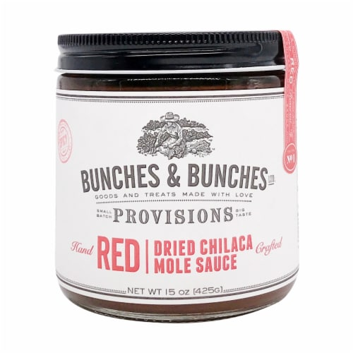 Bunches & Bunches Red Dried Chilaca Mole Sauce Perspective: front