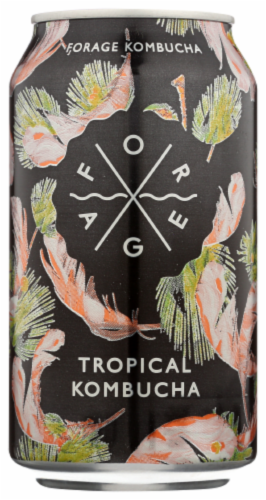 Forage Tropical Kombucha Perspective: front