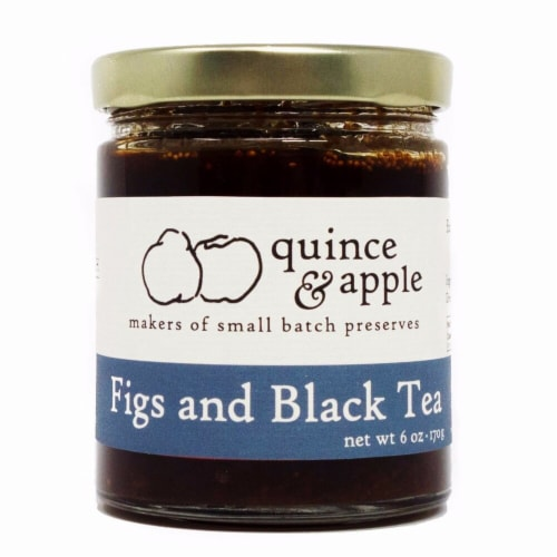 Quince & Apple Fig and Black Tea Preserves Perspective: front