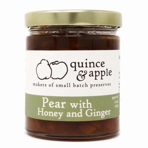 Quince & Apple Pear with Honey and Ginger Preserves Perspective: front