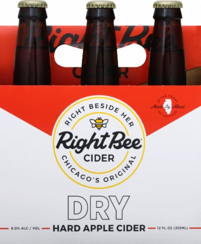 Right Bee Cider Dry Cider Perspective: front