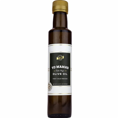 Yo Mama's Foods Extra Virgin Olive Oil Perspective: front