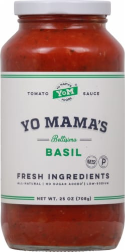 Yo Mama's Foods Bellisima Basil Tomato Sauce Perspective: front