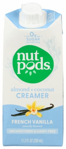 nutpods Dairy Free Unsweetened French Vanilla Almond + Coconut Creamer Perspective: front