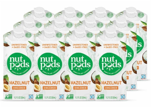 Nutpods Non-Dairy Unsweetened Hazelnut Creamer Perspective: front