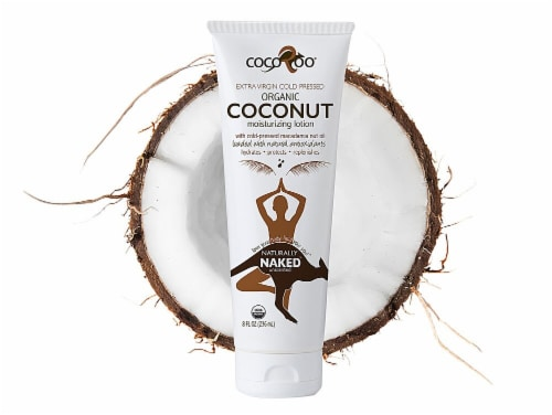 CocoRoo Unscented Naturally Naked Organic Coconut Moisturizing Lotion Perspective: front