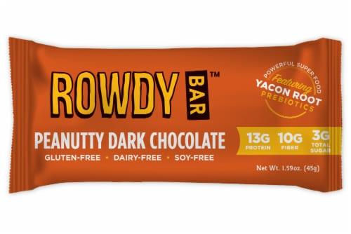 Rowdy Peanutty Dark Chocolate Prebiotic Bar Perspective: front