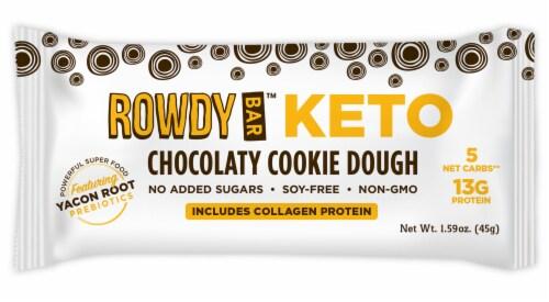 Rowdy Bar Keto Chocolaty Cookie Dough Prebiotic Bar Perspective: front