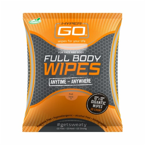Full Body Wipes, Body Cleansing Wipes, Clean Off Odor and Sweat, (Unscented) - 1 pack Perspective: front