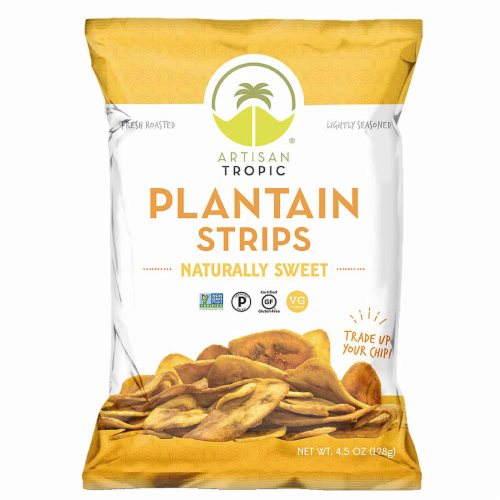 Artisan Tropic Naturally Sweet Plantain Strips Perspective: front