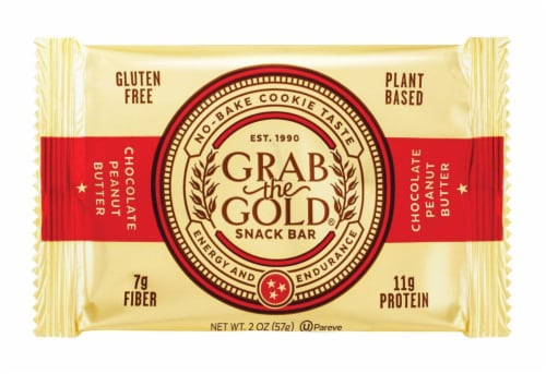 Grab The Gold Chocolate Peanut Butter Snack Bar Perspective: front