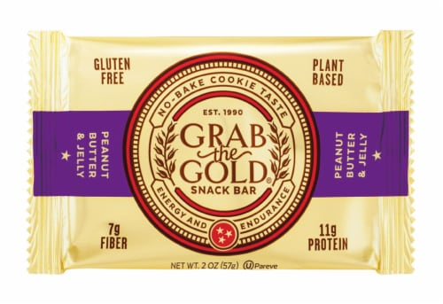 Grab the Gold Peanut Butter and Jelly Snack Bar Perspective: front