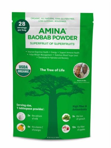 Amina Organic Baobab Powder Perspective: front