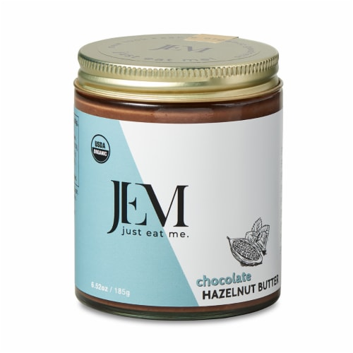 Jem Raw  Organic Sprouted Hazelnut Butter   Chocolate Perspective: front